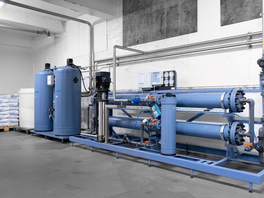 Reverse osmosis used for process water in juice production